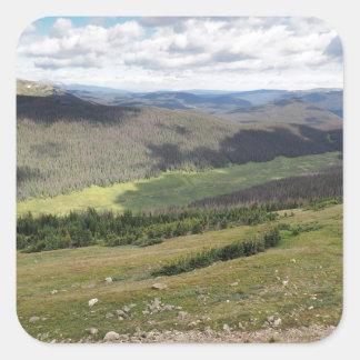 Sticker Carré montagnes rocheuses dans le Colorado