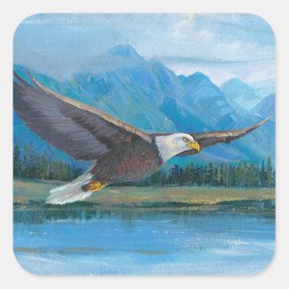 Sticker Carré Montée d'Eagle chauve