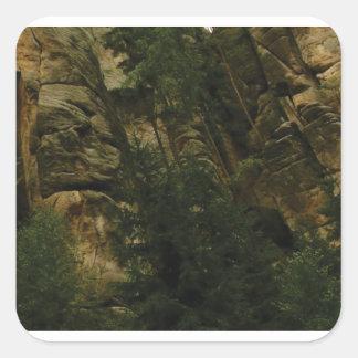 Sticker Carré morceaux et bosses de roche