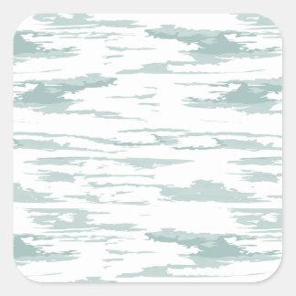 Sticker Carré Motif 10 de courses de brosse