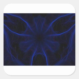 Sticker Carré motif bleu de laser