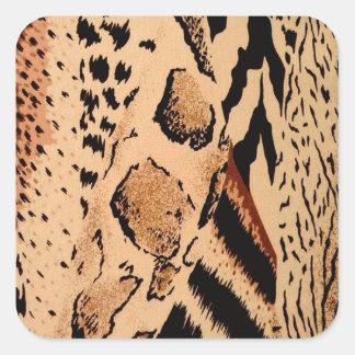 Sticker Carré Motif de guépard