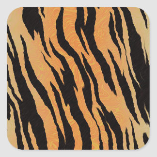 Sticker Carré Motif de tigre