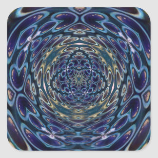 Sticker Carré Motif portail d'atome psychédélique