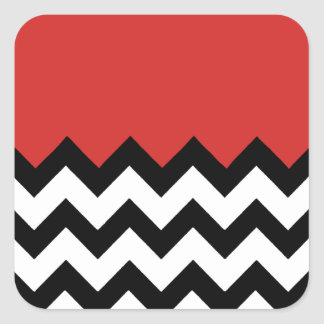 Sticker Carré Motif rouge de tomate sur le grand zigzag Chevron