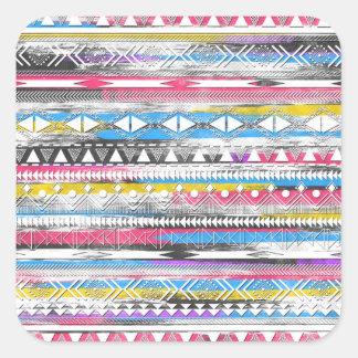 Sticker Carré Motif tribal aztèque à la mode frais