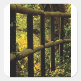 Sticker Carré mousse sur la barrière