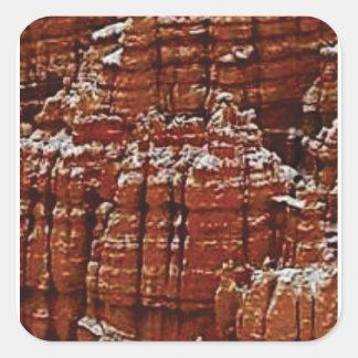 Sticker Carré mur de roche de forme de forme d'érosion