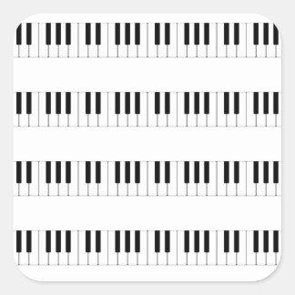 Sticker Carré Musique : Motif de clavier de piano