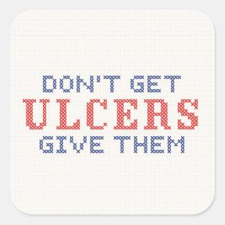 Sticker Carré N'attrapez pas les ulcères