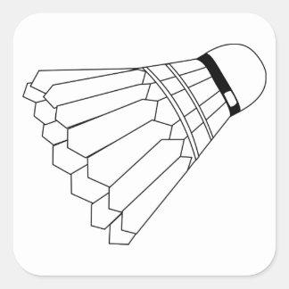 Sticker Carré Navette de badminton