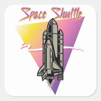 Sticker Carré Navette spatiale