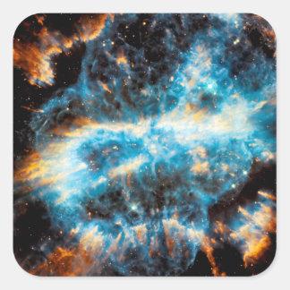 Sticker Carré Nébuleuse planétaire de NGC 5189 - photo de