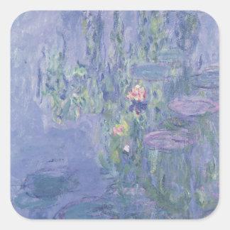 Sticker Carré Nénuphars de Claude Monet |