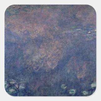 Sticker Carré Nénuphars de Claude Monet | : Centre de saules