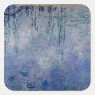 Sticker Carré Nénuphars de Claude Monet | : Saules pleurants