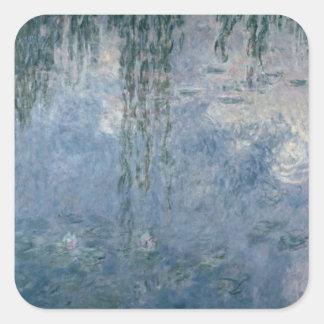 Sticker Carré Nénuphars de Claude Monet | : Saules pleurants,