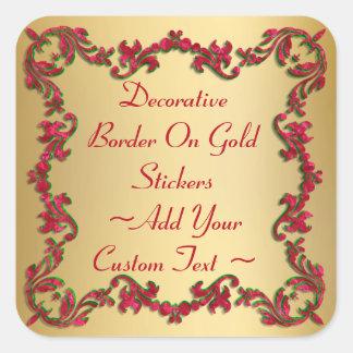 Sticker Carré Noël décoratif colore la frontière sur