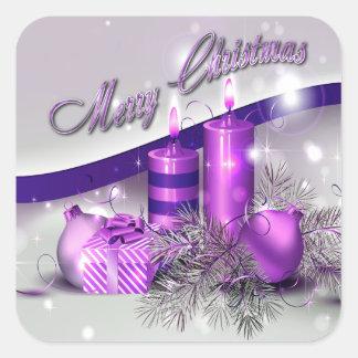 Sticker Carré Noël mire l'étincelle pourpre