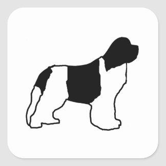 Sticker Carré noir blanc de silo de newfie