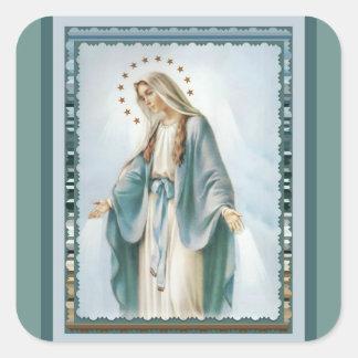 Sticker Carré Notre Madame de Vierge Marie grâce