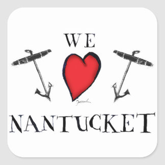 Sticker Carré nous aimons le nantucket