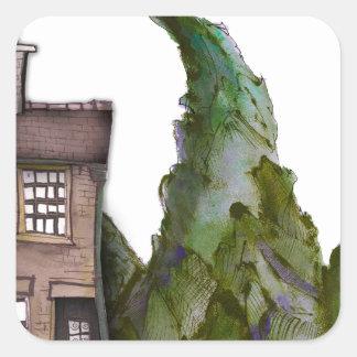 Sticker Carré nous aimons l'hôtel de boutique de Yorkshire