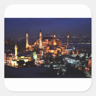 Sticker Carré Nuit de Hagia Sophia
