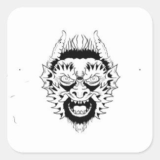 Sticker Carré Nymphe de diable