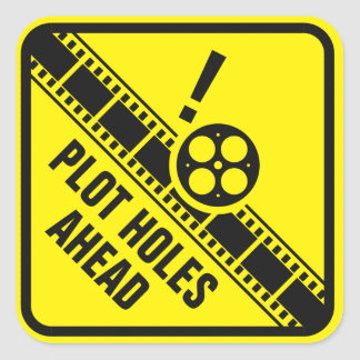 Sticker Carré Observez pour des trous de complot