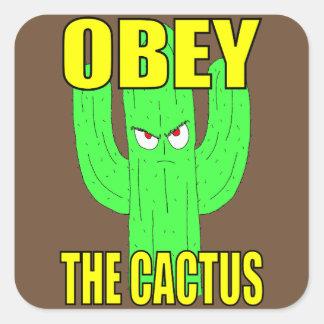 Sticker Carré Ohbey l'autocollant de carré de cactus