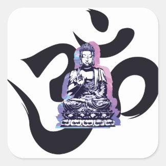 Sticker Carré Ohm Bouddha