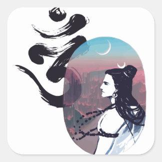 Sticker Carré Ohm en hausse de lune