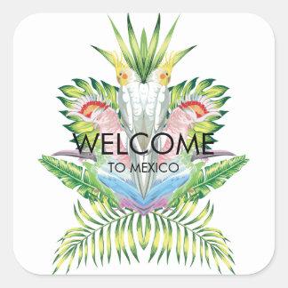 Sticker Carré Oiseaux d'autocollant d'accueil de mariage de