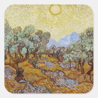 Sticker Carré Oliviers de Vincent van Gogh |, 1889