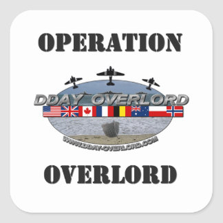 Sticker Carré Operation Overlord 1944