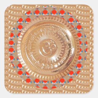 Sticker Carré OR de relief par symbole de l'incantation n