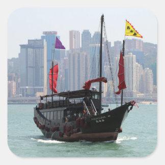 Sticker Carré Ordure chinoise, Hong Kong 2