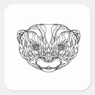 Sticker Carré Oriental De petite taille-a griffé l'art de
