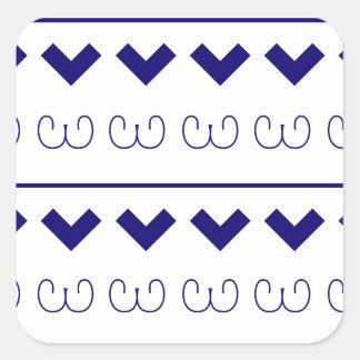 Sticker Carré Ornements de Bluewhite