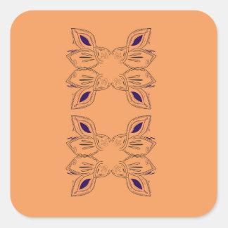Sticker Carré Ornements de luxe beiges