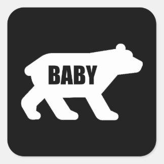 Sticker Carré Ours de bébé