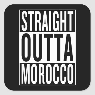 Sticker Carré outta droit Maroc