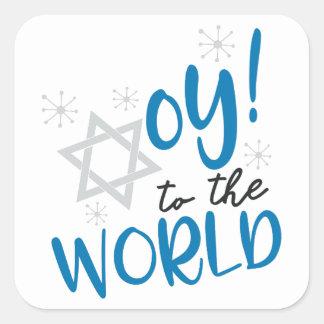 Sticker Carré Oy au monde