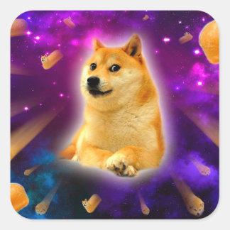 Sticker Carré pain - doge - shibe - l'espace - wouah doge