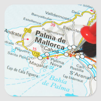 Sticker Carré Palma de Majorque, Espagne