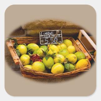 Sticker Carré Panier des citrons italiens