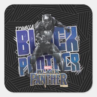 Sticker Carré Panthère noire | T'Challa - graphique de panthère