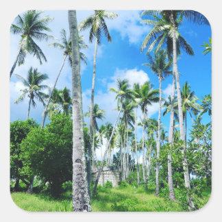Sticker Carré Paradis dans le Pacifique