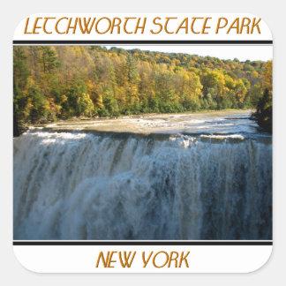 Sticker Carré Parc d'état de Letchworth - automnes de milieu